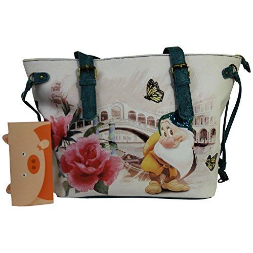 Disney Sette Nani Mammolo River Borsa da Donna a Spalla Shopper Tote