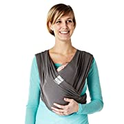 Baby K'tan BREEZE Baby Carrier, Charcoal Grey Cotton Mesh (XS)