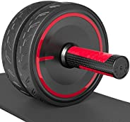 Readaeer Ab Roller Wheel with Knee Pad Abdominal Exercise for Home Gym Fitness Equipment