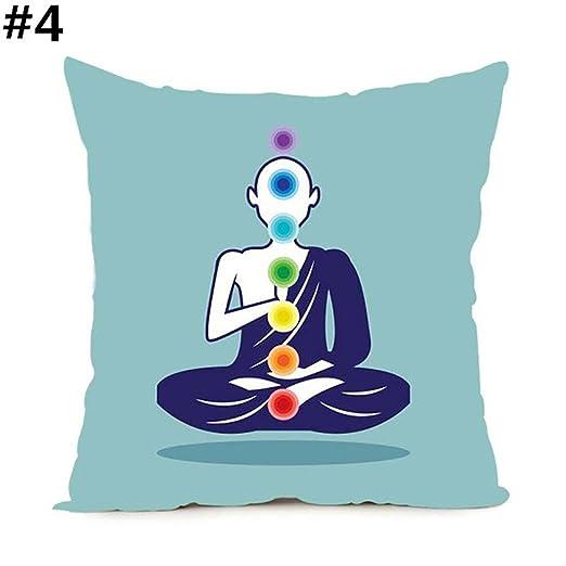 yongqxxkj Funda de cojín para Chakra de Yoga, para el hogar ...