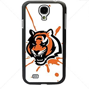 NFL American football Cincinnati Bengals Samsung Galaxy S4 SIV I9500 TPU Soft Black or White case (Black)