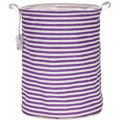 purple canvas basket - 4