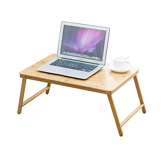 GLJ - Mesa de Cama de bambú para Ordenador portátil, Plegable ...