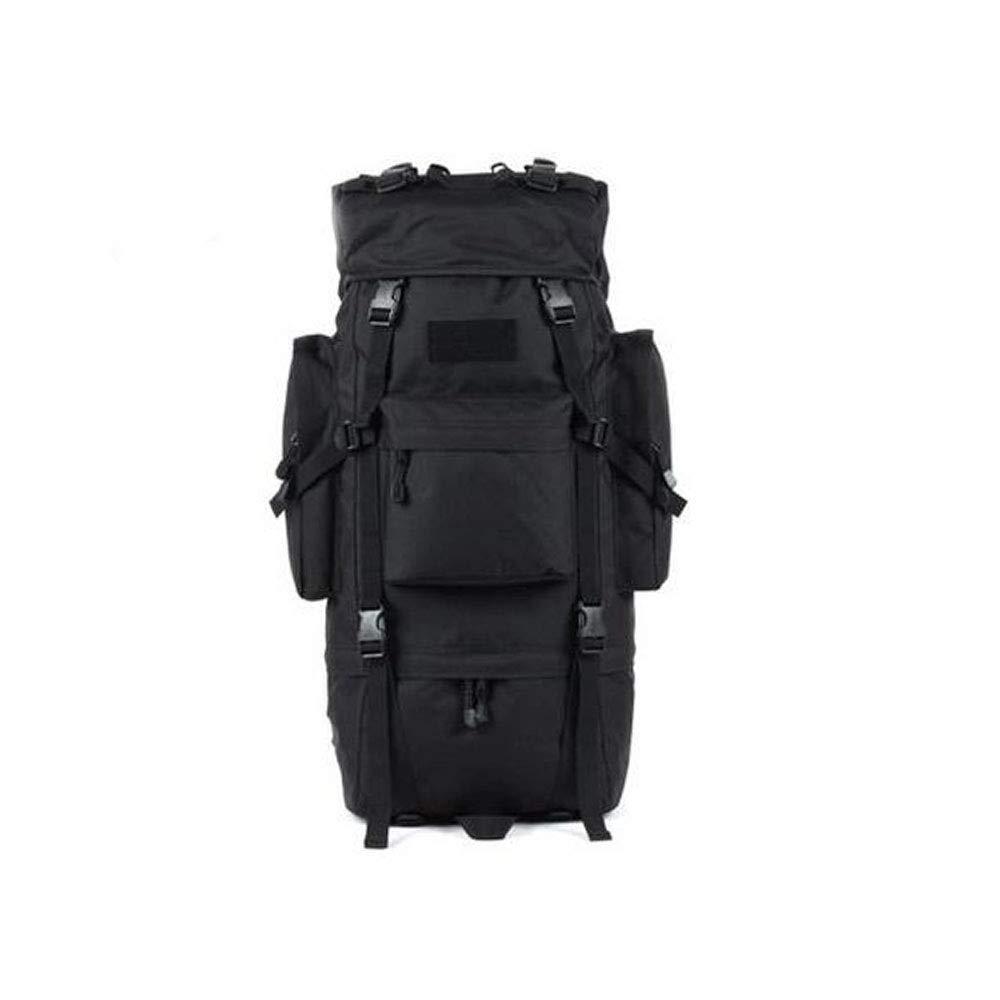 バックパック、65Lアウトドア登山バッグ、防水トラベル男性と女性のバックパックマーチングリュックサック B07S1L33DH Black 30*23*72cm