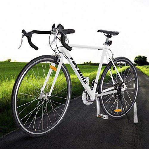 White Shimano 700C 54cm Aluminum Road/Commuter Bike Racing B