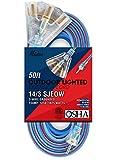Miusco Extreme Weather 50 ft 14 Gauge SJEOW Extension Cord