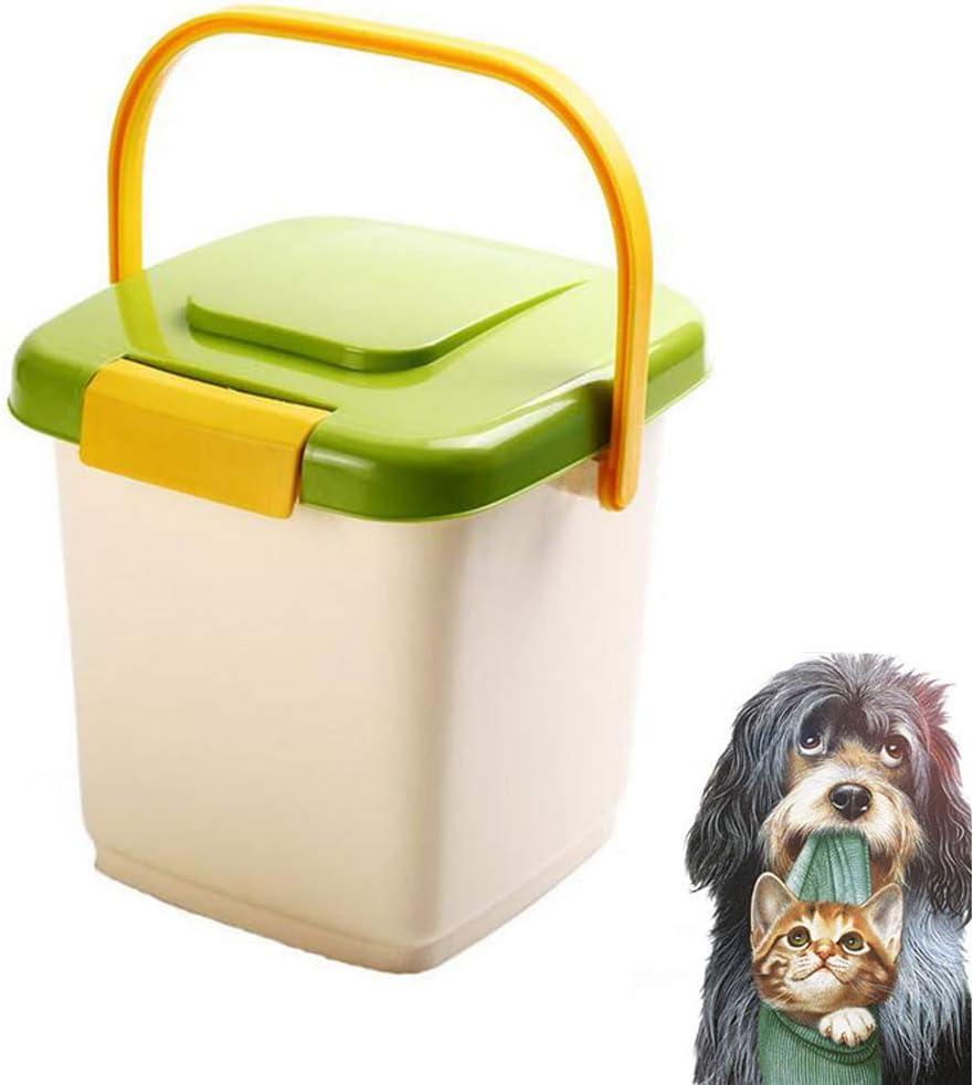 Contenedor de Almacenamiento Hermético 4KG para Alimentos para Mascotas, con Medición Scoop Seal Hebillas De Plástico para Mascotas Perro Gato Animal Animal Dispensador de Comida Seca
