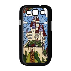 Art painting Beauty and the beast Hard Plastic phone Case Cover+Gift keys stand For Samsung Galaxy S3 ZDI053793