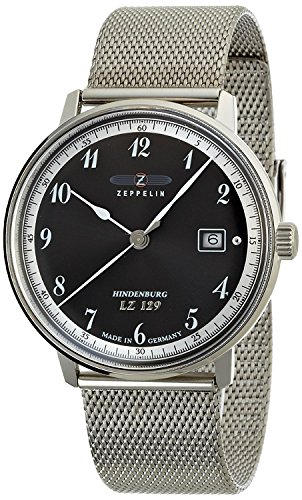 ZEPPELIN watch Hindenburg black dial date 7046M2 Men's [regular imported goods]