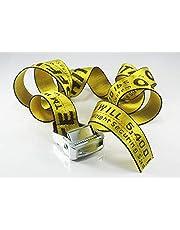AU Off White Tie Down Yellow Nylon Cotton Big Iron Head Industrial Belt 200CM