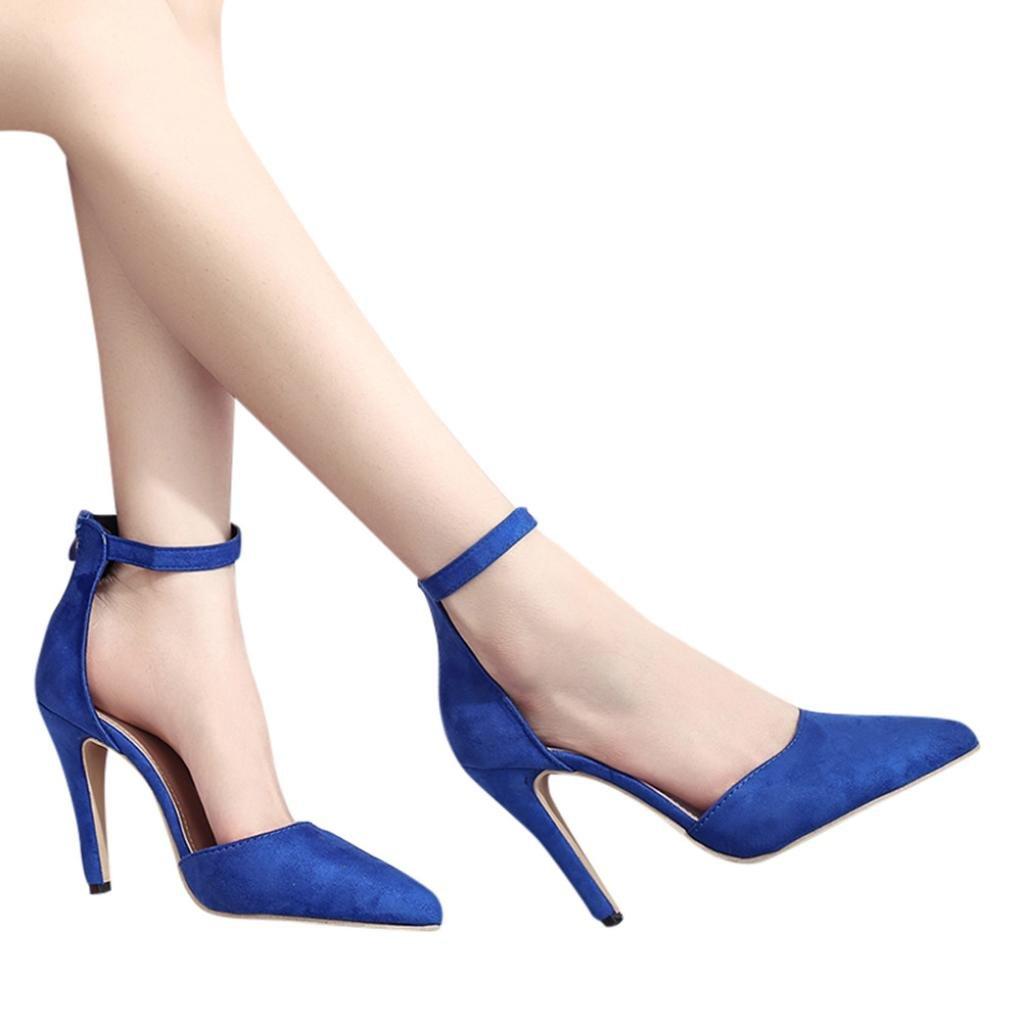 Hffan Schuhe Damen Pumps Army grün Schwarz Blau Rosa Sandalen Keine Dekoration Wildleder Feiner High Heel Einfacher Stil Grundlegender Stil Pendeln Jeden Tag