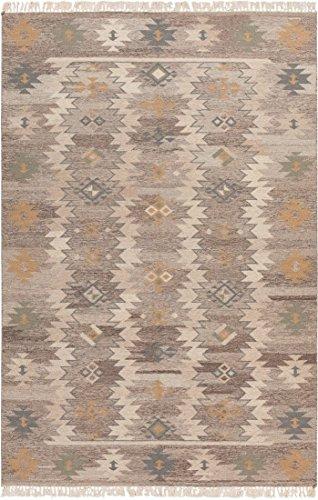 Jewel Wool (Surya Jewel Tone II JTII-2047 Transitional Hand Woven 100% Hard Twist Wool Oyster Gray 3'6