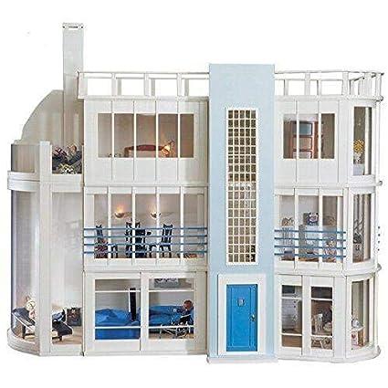 Amazon Com Malibu Beach Modern Art Deco Dollhouse Unpainted Flat