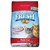 Naturally Fresh Walnut-Based Multi-Cat Household Quick-Clumping Cat Litter, 26 lb