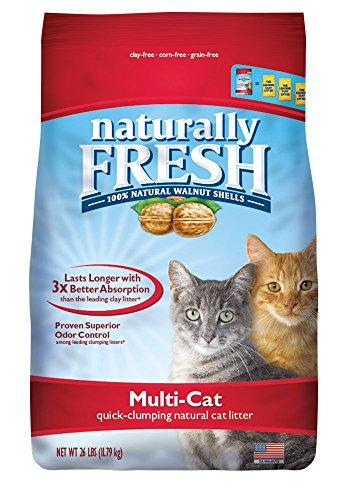 (Naturally Fresh Walnut-Based Multi-Cat Household Quick-Clumping Cat Litter, 26 lb)