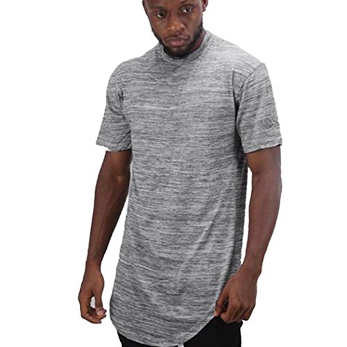 Clearance!! Men Slim Fit T-Shirt,Lelili Simple Solid Short Sleeve Round Neck Tunic Tops and Blouse Tee Shirt (L, (Mens Tunic Shirts)