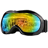 Kids Snowboarding Skiing Goggles Zdatt Children Motorcross ATV Goggle UV Protection - Dustproof Scratch Resistance Outdoor(Black)