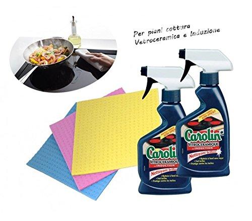 Kit de limpieza CAROLIN placas de inducción (Limpiador ...