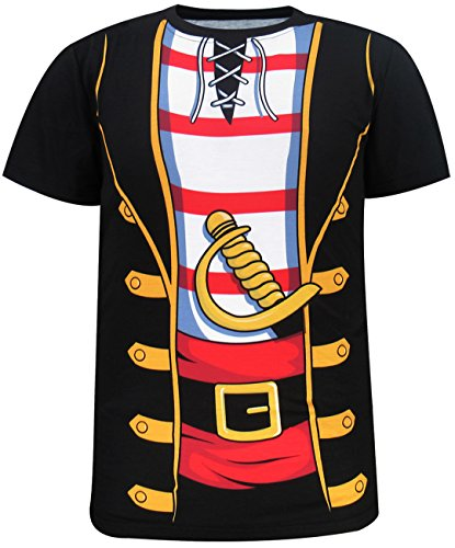 Funny World Men's Pirate Costume T-Shirts (4XL, -