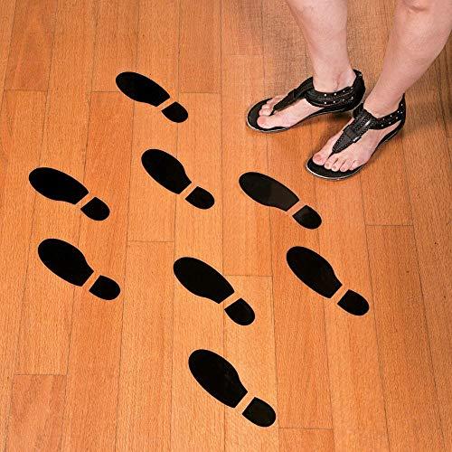 Set of 16 LARGE SHOE FOOTPRINT FLOOR DECAL CLINGS! ~ 16 Foot Prints ~ -