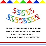 Uno Card Inspired Birthday Banner, Colorful Happy
