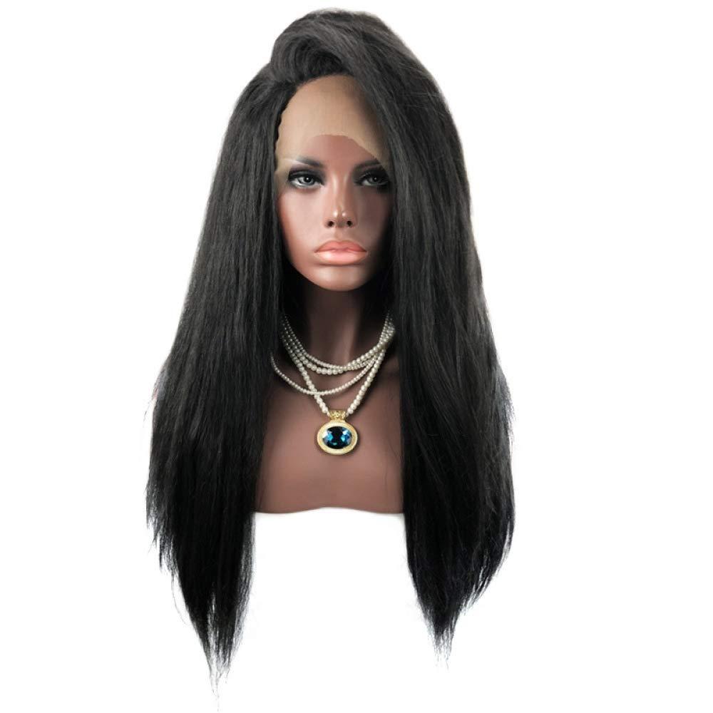 ahorrar en el despacho ZhiGe Pelucas,Peluca encaje,Peluca Sra. Front Lace Chemical Chemical Chemical Peluca larga de pelo recto  ¡No dudes! ¡Compra ahora!