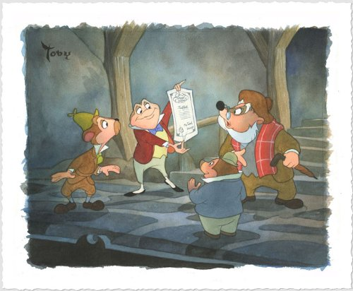 Disney Fine Art Giclee On Paper - Triumphant Mr. Toad by Toby Bluth from The Wind & The Willow