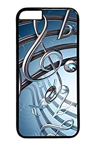 Music notes sheet metal form Custom iphone 6 4.7inch Case Cover Polycarbonate black