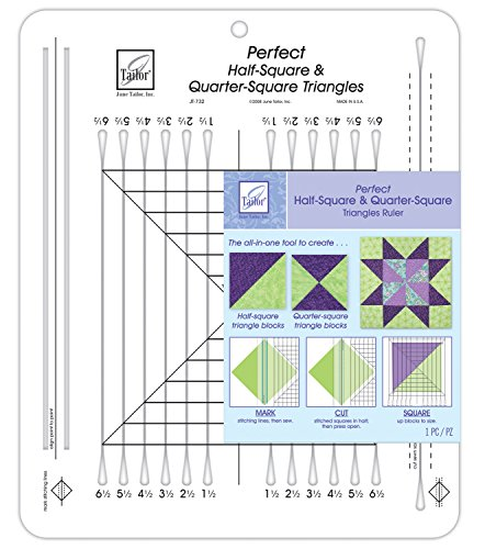 Price comparison product image June Tailor 10x12 Perfect Half Square & Quarter Square Triangle Ruler