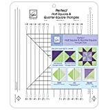 June Tailor 10-1/2-Inch by 12-1/2-Inch Perfect Half-Square and-Quarter-Square Triangles Ruler