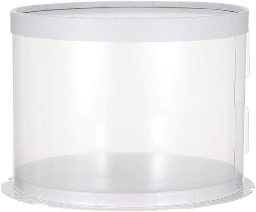 UPKOCH caja de pastel redonda transparente de plástico ...