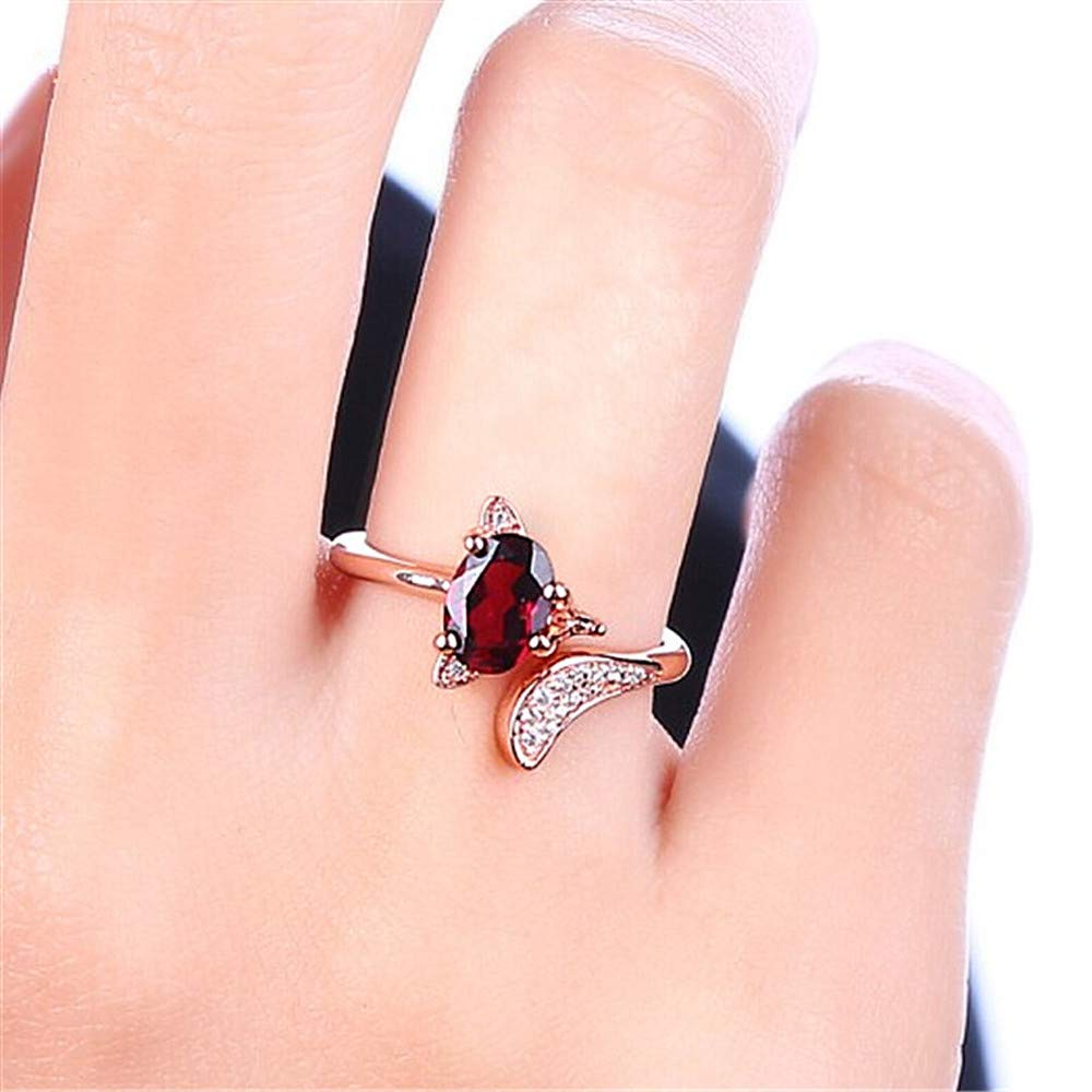 Ciyoon Ring Handmade Ring Natural Jewelry Gift for Women and Girls Animal Modeling Rose Gold