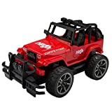 Picture Of Lightning Red Radio Remote Control 1:15 Grand Monster All-Terrain Vehicle RC Model Jeep