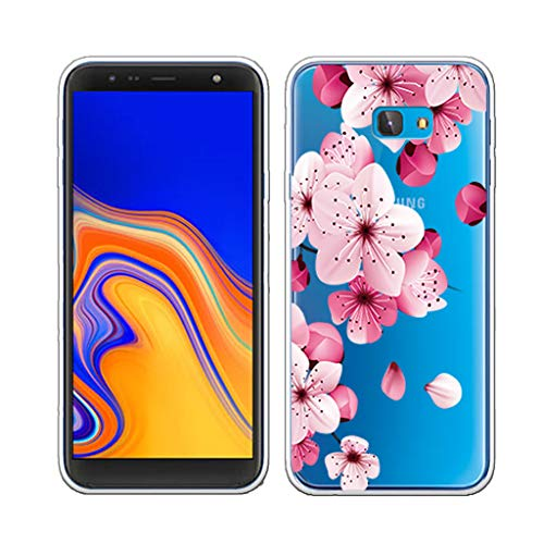 (LJSM Case for Samsung Galaxy J4 Plus 2018 (Samsung J415 Galaxy J4+) Backcover Transparent Silicone Soft TPU Bumper Clear Cover Flexible Gel Shell Skin Protector Case for para (6.0