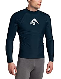 Kanu Surf Men's Long Sleeve Platinum UPF 50+ Rashguard Swim Tee