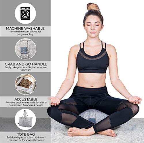 Amazon.com: Cojín de meditación de trigo sarraceno y lavanda ...