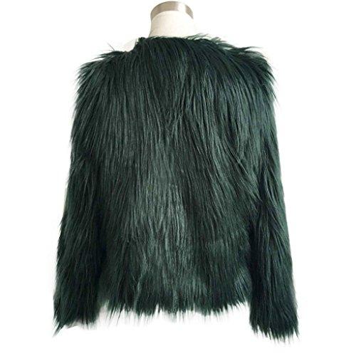renard de plein Parka dhiver chaude air Femmes Tonsee fausse fourrure veste manteau Arme Vert de vtements gqH0wAFUI