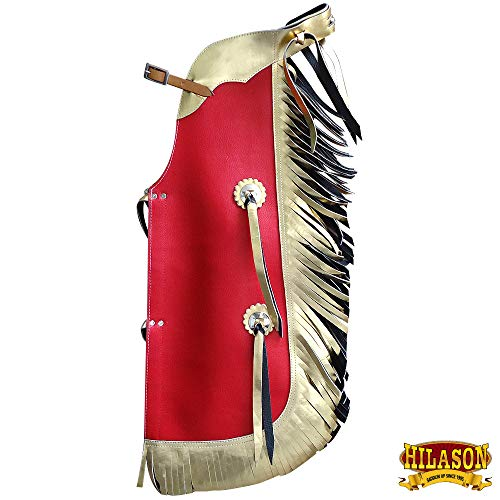 (HILASON Western Leather Kids Junior Youth Pro Rodeo Bull Riding Chaps)
