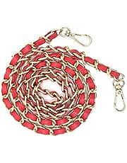 1pcs DIY Chain Crossbody Strap, Handmade Handbag Chains Accessories Purse Straps Shoulder Cross Body Replacement Straps (Red)