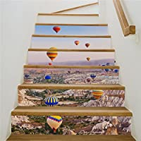 Rurah Stair Stickers Wall Stickers Fashion Home Self - Adhesive 3D Hot Air Balloon Decorative Waterproof Staircase Stickers