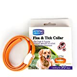Dog Flea Treatment Collar - Flea and Tick Collar,Flea Repellent Treatment and Tick Prevention for Dogs&Cats,3 Month Protection
