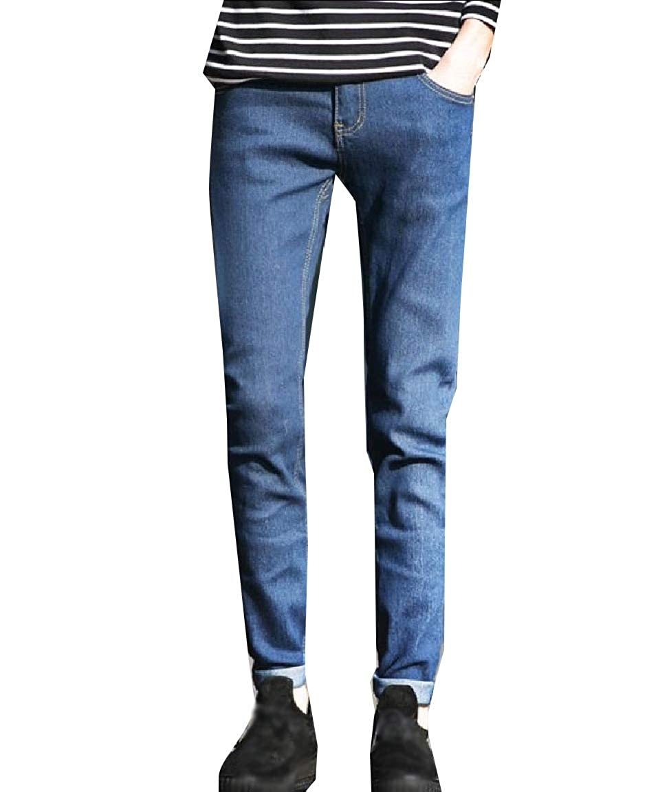 Andopa Men Classic-Fit Relaxed Plus Size Cozy Cowboy Stretch Jeans Jean
