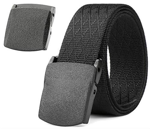 - JASGOOD Nylon Canvas Breathable Military Tactical Men Waist Belt With Plastic Buckle (Suit for pant size below 45