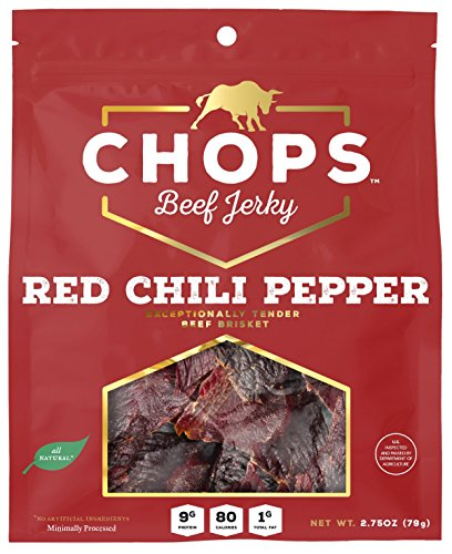 Choice Chops - Chops Beef Jerky Chops Red Chili Pepper Beef Jerky, 5 Piece
