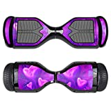MightySkins Protective Vinyl Skin Decal for Swagtron T1 Hover Board Self Balancing Smart Scooter wrap cover sticker skins Purple Heart