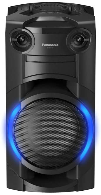 Panasonic SC-TMAX10 - Sistema De Sonido (300 W, Airquake Bass, 20cm Woofer, Full Karaoke, 2 Conector Micrófonos, Cargador Portátil, CD, Bluetooth, DJ Sampler, USB, MAX DJ Effect)-Color Negro