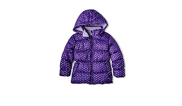 d5b3f2bf4 Amazon.com  Vertical  9 Toddler Girls Purple Hearts Winter Coat ...