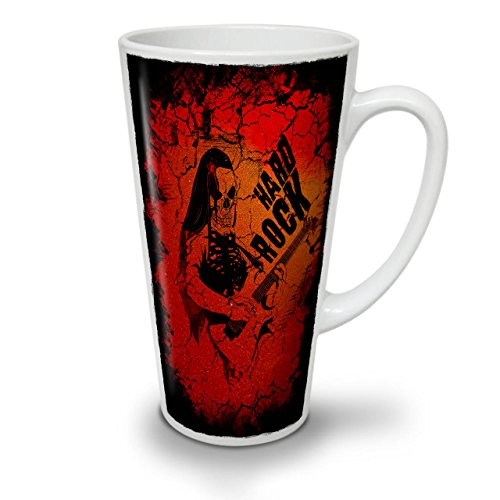 Hard Rock Guitar Music Dead White Ceramic Latte Mug 17 oz | Wellcoda