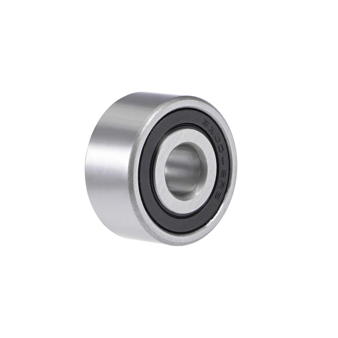 uxcell 3200-2RS Angular Contact Ball Bearing 10X30X14.3mm Sealed Bearings 5200-2RS