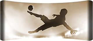 "product image for Next Innovations 48"" X 19"" Hd Curved Wall Art Soccer Kick Home Decor"
